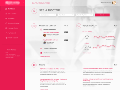 Doctor Health UI Dashboard healthcare clean patient flat design charts md analytics medical dashboard flat doctor