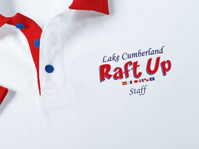 Raft Up Logo & Identity typography logo flat design branding