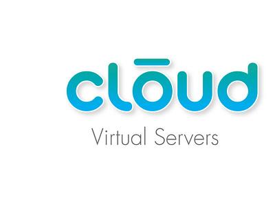 Cloud Virtual Servers vector design corporate identity logotypedesign typography logo branding