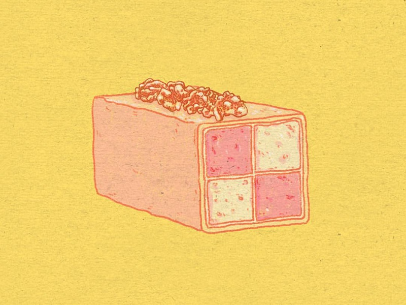 Daily Doodle #59 cake illustration battenberg dessert food pbs bbc great british bake off doodle daily dailies
