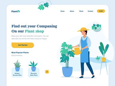 Planto Web UI logo illustrator website web ux ui vector illustration design