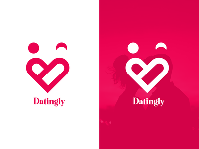 Datingly Logo Design vector design icon typography logo
