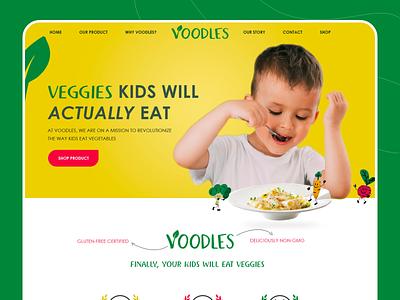 Voodles Web UI typography website web illustrator icon ui ux illustration vector design