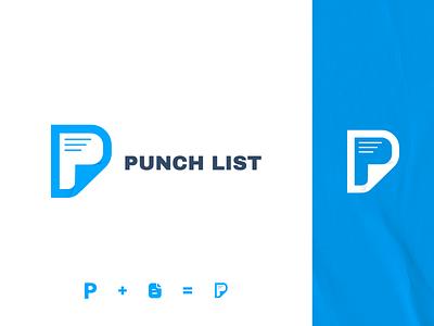 Punch List Logo Design design typography vector branding logo