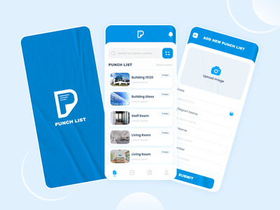 Punch List App Design list uiuxdesign logo typography branding ux ui design