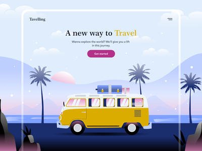 Travel Web Design web typography ux illustrator ui illustration vector