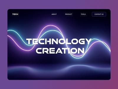 Neon Wave Effect after effects neon lights neon wave branding logo ux ui design