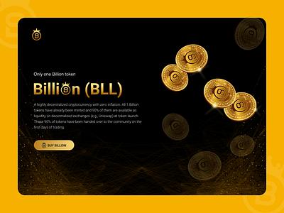 Billion Token Banner Design cryptocurrency ux ui design vector illustration illustrator icon typography branding logo graphic design
