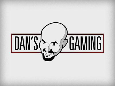 Dan's Gaming twitch gaming logo branding face