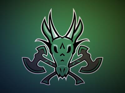 Dragon Logo WIP dragon sports vector green logo axe