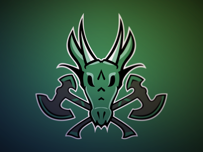 Dragon Logo WIP dragon sports vector green logo axe