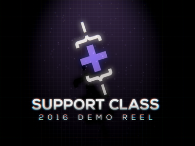Support Class 2016 Reel motion graphics after effects demo reel support class logo