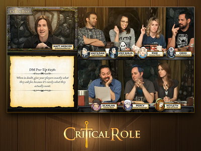 Critical Role - Alpha Broadcast Overlays geek and sundry d and d broadcast graphics twitch overlays dungeons and dragons critical role