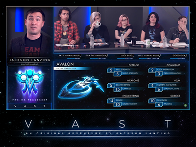 VAST - Alpha Broadcast Overlays motion graphics sci-fi vast geek and sundry overlays twitch broadcast graphics