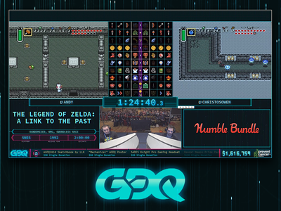 Awesome Games Done Quick - Broadcast Graphics overlays twitch speedrun motion graphics broadcast graphics gdq