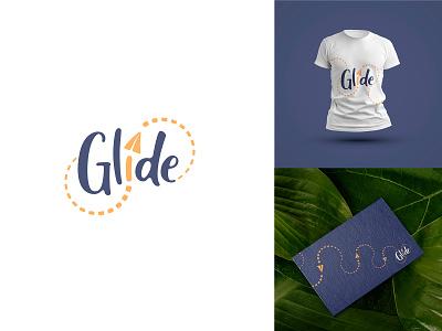 GLIDE glide airplane logo logodesign logotype dailylogochallenge minimal illustration branding vector logo flat design