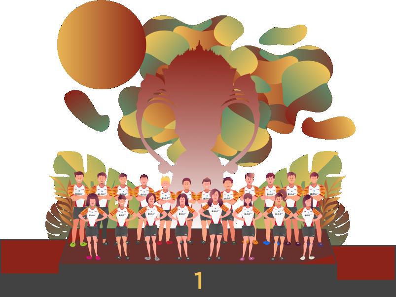 Sudirman Cup Indonesia Illustration indonesia badminton design vector illustration