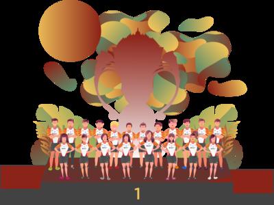 Sudirman Cup Indonesia Illustration