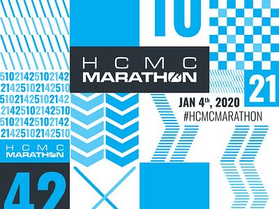 HCMC Marathon 2020 race run running blue graphic design vietnam ho chi minh city saigon hcmc marathon