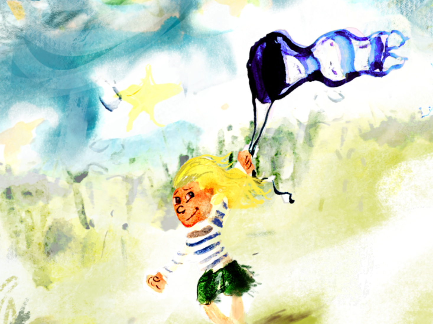 Kite Girl Wip kite picture book watercolour painting picturebook storybook children book illustration nursery nursery art childrens illustration character design childrens books childrens book character childrens book illustration kidlitartist kidlitart childrens illustration art drawing illustration