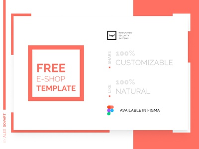 Free e-shop Template webdesign minimal website animated web figma freebies security system ecommerce ux ui design template free e-shop