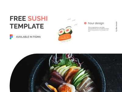 Free Sushi Template website design ux design ui design clean ui minimalistic sushi bar 1 hour design fast design template restaurant food sushi roll japan food chinese food freebie free sushi