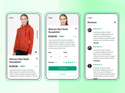Product Detail Screen technopark sell shop buy ecommence ecommerce design product mobile design ios clean ui detail page layout design adobe xd ux ui