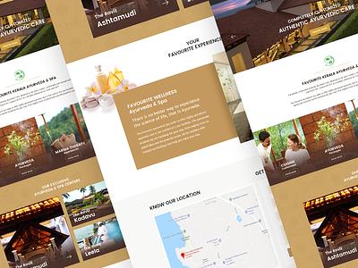 Ayurveda Spa Website web ui design webdesign ui design ayurveda website