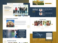 College Landing page