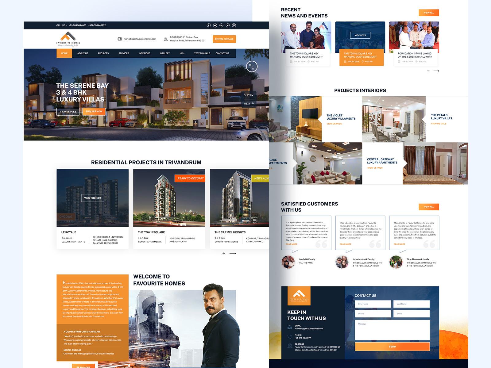 Real Estate Website Design By Lijin G Samuel On Dribbble