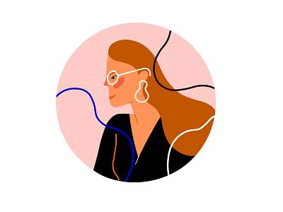 Portrait social media icons avatar icons minimalism portrait illustration character design blog post magazine illustration flat illustration bold colors illustrator illustration vector