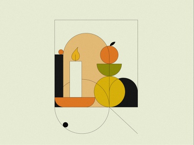 geometric figures graphic design app illustration magazine illustration flat illustration bold colors illustrator minimalism illustration vector