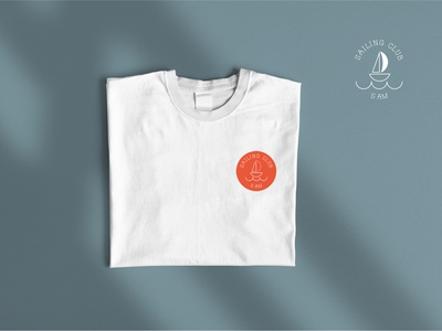 Logo for Sailing Club icon aesthetic corporate identity typography branding logo vector minimalism graphic design design