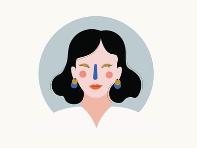 """""""new earnings"""" flat illustration girly portrait illustration blog post character design minimalism illustration illustrator vector"""