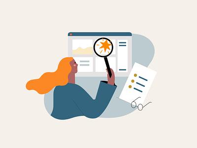 Goal setting girl character design app illustration business illustration illustration for web flat illustration illustrator illustration vector