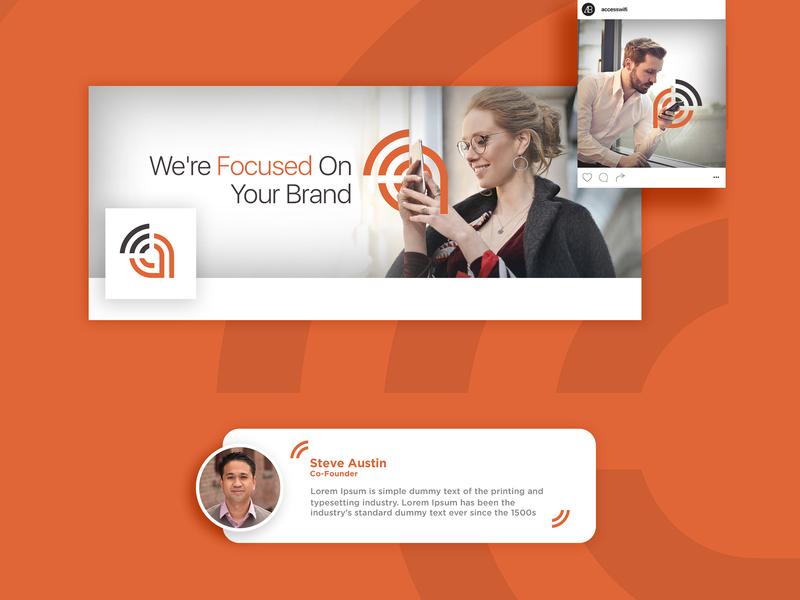 Access Wifi - Branding Proposal ios clean identity ui brand app website mobile minimal illustrator icons lettering flat vector typography logo illustration icon design branding