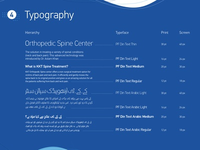 KKT Orthopedic Spine Center Branding