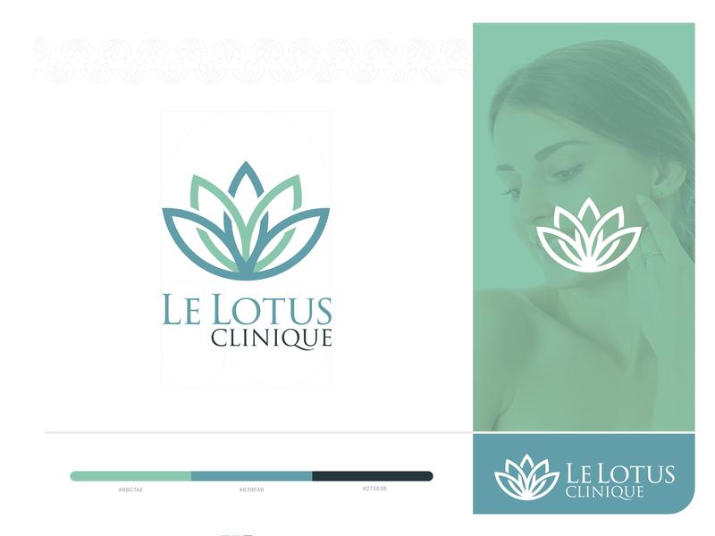 Le Lotus Clinique Branding beauty vector logo illustration design logotype lettering fitness care clinic lelotusclinique color scheme branding color brand designer brand agency graphic design logodesign brand identity branding clinique lelotus