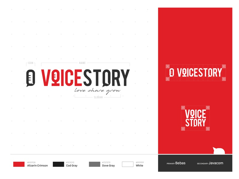 Voice Story Branding brand icons illustrator icon lettering typography vector logo illustration design branding speaking story illustration story telling community minimal event venue perfomance speaker motivational quotes
