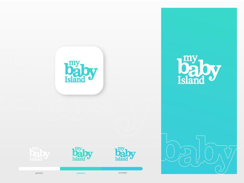 My Baby Island identity mobile website flat store design app design ecommerce minimal illustrator icon lettering typography vector logo illustration design branding logotype babylogo logodesign