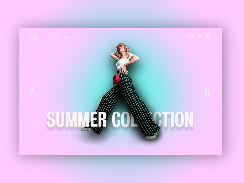 LANDING PAGE - Summer fashion ecommerce gradient fashion typography landing page user interface ui  ux web design