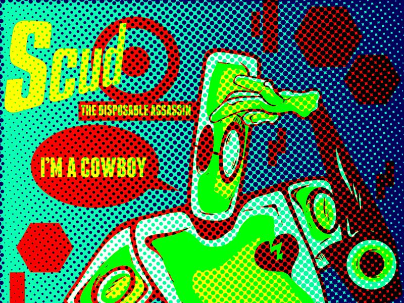 Scud typography graphic vintage retro illustration vector comics