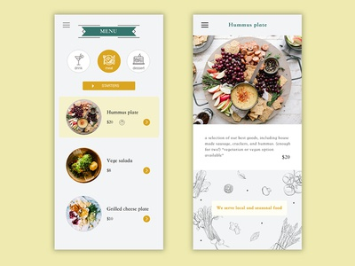 Daily UI #043 / Food/Drink Menu