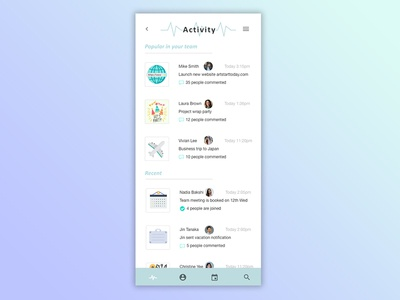 Daily UI #047 / Activity Feed