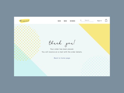 Daily UI #077 / Thank You