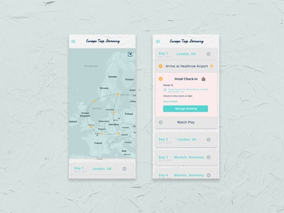 Daily UI #079 / Itinerary