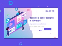Daily UI #100 / Redesign Daily UI Landing Page
