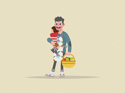 """Mr Bento """"Dad"""" dad character monbento persona"""