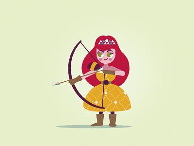 Warrior princess, tattoo for kids yellow orange red girly cut princess knight
