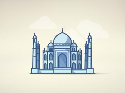 Tajmahal line vector india tajmahal